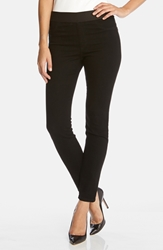 Karen Kane Dark Rinse Denim Leggings Black