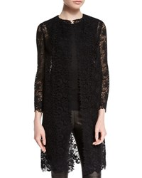 Ralph Lauren Bracelet Sleeve Guipure Lace Coat Black