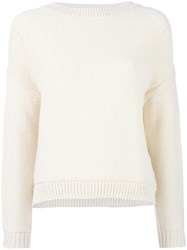 Vince Chunky Knit Jumper Nude Neutrals