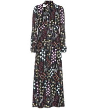 Valentino Printed Crepe Dress Multicoloured