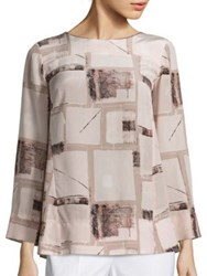 Piazza Sempione Silk Printed Tunic Powder Pink Multi