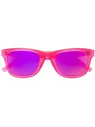 Saint Laurent 51 Surf Wayfarer Sunglasses Pink And Purple