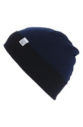 Norse Projects Men's Double Faced Merino Wool Beanie Blue Principle Blue