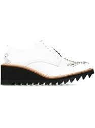 Y's Shark Sole Lace Up Shoes White
