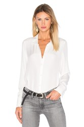 Frame Denim Le Ruffle Blouse White