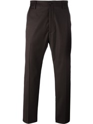 Pence Front Pleat Trousers Brown