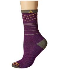 Wigwam Rip Rap Trail Pro Imperial Purple Women's Crew Cut Socks Shoes