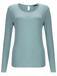 Gerry Weber Beaded Jersey Top Glacier