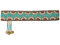 Mandf Western Beaded Boho Headband Turquoise Headband Blue