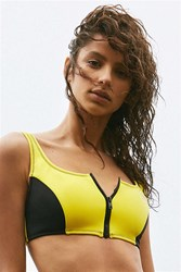Body Glove '80S Throwback You Spin Me Bikini Top Yellow