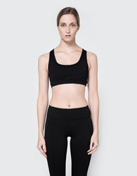 Which We Want Cutout Sports Bra Black