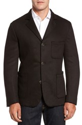 Flynt Men's Big And Tall Laser Edge Wool Blend Jersey Sport Coat Brown