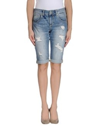 Guess Denim Bermudas Blue