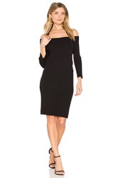 525 America Off Shoulder Sweater Dress Black