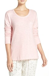 Kensie Women's Pocket Pajama Top Rose
