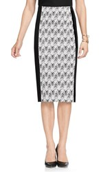 Vince Camuto Women's Herringbone Jacquard Knit Pencil Skirt