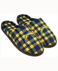 Forever Collectibles San Diego Chargers Flannel Slide Slippers Navy
