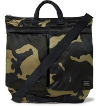 Porter Yoshida And Co Counter Shade Camouflage Print Nylon Tote Bag Green