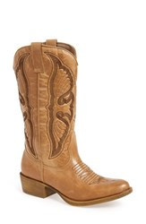 Coconuts By Matisse Women's 'Chance' Western Boot Natural Faux Leather