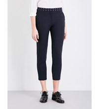Claudie Pierlot Pacific Cropped Woven Trousers Marine