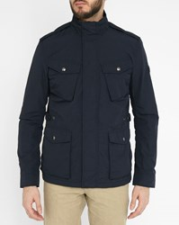 Woolrich Navy Travel Waterproof Press Studs Parka With Pockets
