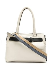 Mara Mac Leather Tote Bag Neutrals