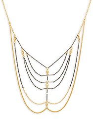 Mhart Core Webbed 18K Yellow Gold And Sterling Silver Chain Necklace