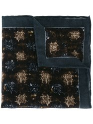 Canali Printed Pocket Handkerchief Brown