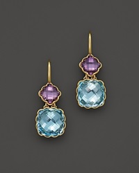 Bloomingdale's Amethyst And Blue Topaz Drop Earrings In 14K Yellow Gold Gold Multi