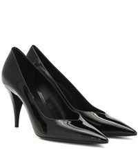 Saint Laurent Kiki 85 Patent Leather Pumps Black