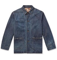 Chimala Distressed Denim Chore Jacket Indigo