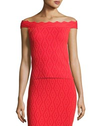 Jonathan Simkhai Diamond Textured Off The Shoulder Top