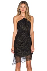 Zimmermann Empire Drape Back Dress Black
