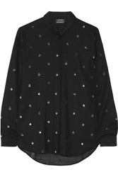 Anthony Vaccarello Embellished Wool Blend Shirt