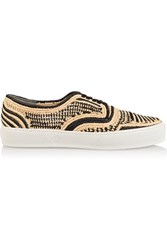 Robert Clergerie Teba Raffia Sneakers Black