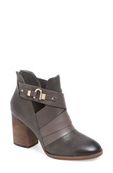 Isola Women's 'Ladora' Block Heel Bootie Pewter Leather