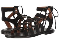 Frye Blair Side Ghillie Black Soft Oiled Suede Women's Dress Sandals