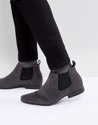 New Look Faux Suede Chelsea Boots In Grey Mid Grey