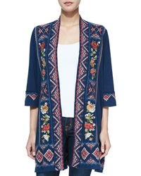 Johnny Was Carolina Embroidered Duster Cardigan