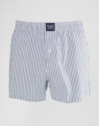 Abercrombie And Fitch Stripe Woven Boxers Blue