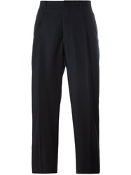 E. Tautz Pleated Trousers With Belt Loop Blue