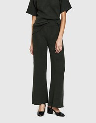 Creatures Of Comfort Ribbed K Wave Pant In Dark Olive