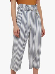 Ted Baker Colour By Numbers Delyn Stripe Wide Leg Trousers Bright Blue