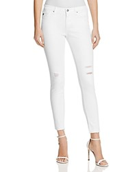 Ag Jeans Middi Ankle Raw Hem In White Torn 100 Bloomingdale's Exclusive