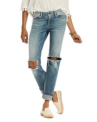 Scotch And Soda Supreme Distressed Straight Jeans In Beach Bandits