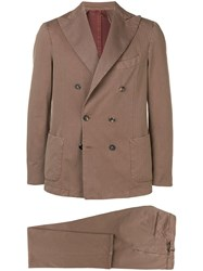 Dell'oglio Double Buttoned Two Piece Suit Neutrals