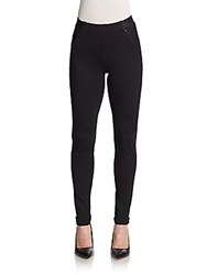 Elie Tahari Pepper Asymmetrical Paneled Leggings Black