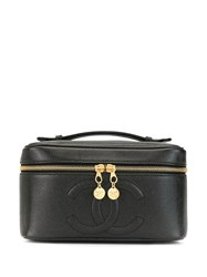 Chanel Pre Owned 1997 Cc Vanity Case Black