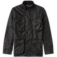 Barbour International Wax Jacket Black