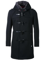Loveless Hooded Duffle Coat Black